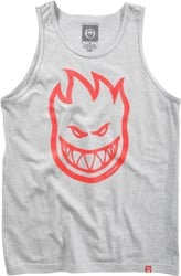 Spitfire Bighead Tank - athletic heather/red