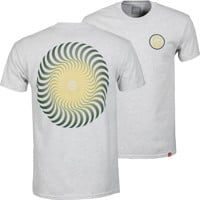 Spitfire Classic Swirl Fade T-Shirt - ash heather/green-yellow fade