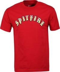 Spitfire Old E T-Shirt - cardinal/red-yellow fade