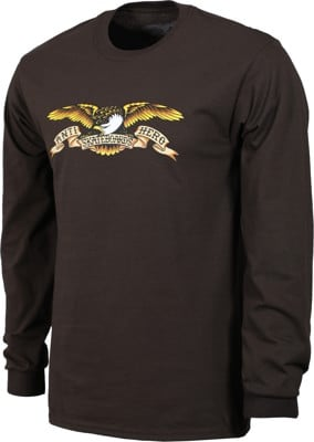 Anti-Hero Eagle L/S T-Shirt - dark chocolate - view large