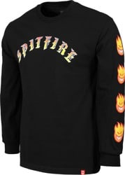 Spitfire Old E Bighead Fill Sleeve L/S T-Shirt - black/red/yellow
