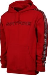 Spitfire Classic 87' Swirl Stripe Hoodie - scarlet red