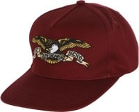 Anti-Hero Eagle Snapback Hat - dark red