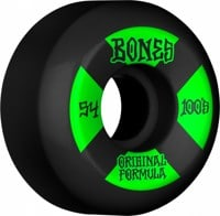 Bones 100's OG Formula V5 Sidecut Skateboard Wheels - black/green #4