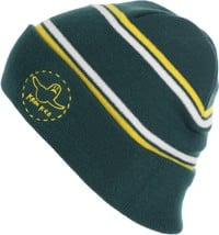 Krooked Trinity Beanie - green/yellow/white