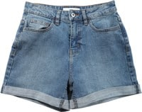 Vans Women's High Rise Roll Cuff Shorts - ocean wash