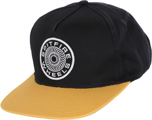 Spitfire Classic 87' Swirl Patch Snapback Hat - navy/yellow - view large