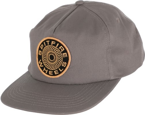 Spitfire Classic 87' Swirl Unstructured Snapback Hat - charcoal/orange - view large