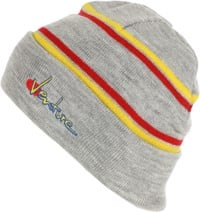 Venture 90's Beanie - heather/yellow/red