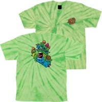 Santa Cruz Kids Toxic Hand T-Shirt - spider lime