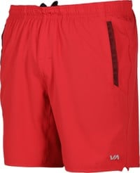 RVCA Yogger Stretch Shorts - cherry