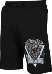 Loser Machine Don't Mess Fleece Shorts - black