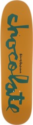 Chocolate Anderson Original Chunk 8.5 Skidul Shape Skateboard Deck - tan/green