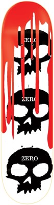 Zero 3 Skull Blood 8.375 Skateboard Deck - white - view large