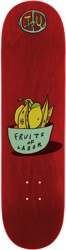 Transportation Unit Fruits Of Labor 8.25 Skateboard Deck - red