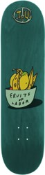 Transportation Unit Fruits Of Labor 8.25 Skateboard Deck - teal