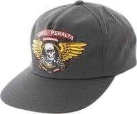 Powell Peralta Winged Ripper Snapback Hat - charcoal