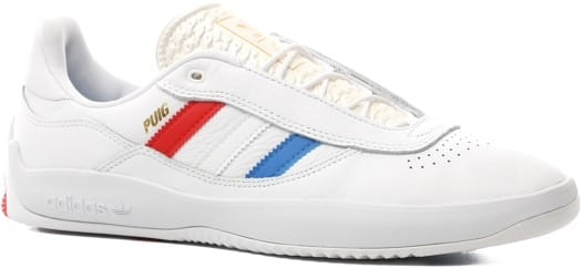 Adidas PUIG Skate Shoes - footwear white/bluebird/vivid red - view large