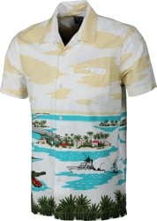 Dark Seas Islamorada S/S Shirt - white/green