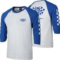 Loser Machine LMC X PBR Drink Team 3/4 Sleeve T-Shirt - white/royal