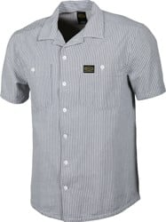 RVCA Day Shift Stripe S/S Shirt - ash blue