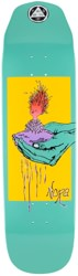 Welcome Nora Soil 8.6 Wicked Queen Shape Skateboard Deck - teal dip
