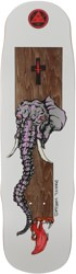 Welcome Vargas Tusk 8.8 Effigy Shape Skateboard Deck - brown