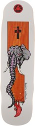 Welcome Vargas Tusk 8.8 Effigy Shape Skateboard Deck - orange