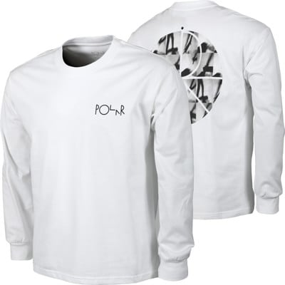 Polar Skate Co. Sequence Fill Logo L/S T-Shirt - white - view large