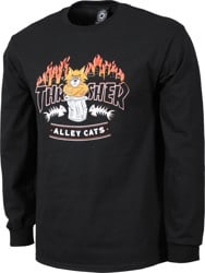 Thrasher Alley Cats L/S T-Shirt - black