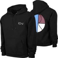 Polar Skate Co. 3 Tone Fill Logo Hoodie - black