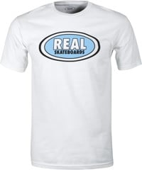 Real Oval T-Shirt - white/light blue