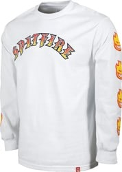 Spitfire Old E Bighead Fill Sleeve L/S T-Shirt - white/red/yellow