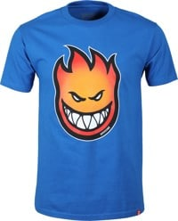 Spitfire Bighead Fade Fill T-Shirt - royal/red-gold fade
