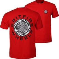 Spitfire Classic 87' Swirl T-Shirt - red/black/white