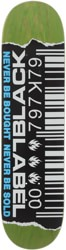 Black Label Barcode Ripped 8.25 Skateboard Deck - green