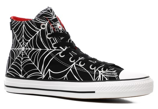 Converse Chuck Taylor All Star Pro High Skate Shoes - (white widow) black/university red/white - view large