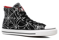 Converse Chuck Taylor All Star Pro High Skate Shoes - (white widow) black/university red/white