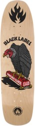 Black Label Vulture Curb Club 8.88 Skateboard Deck - natural stain